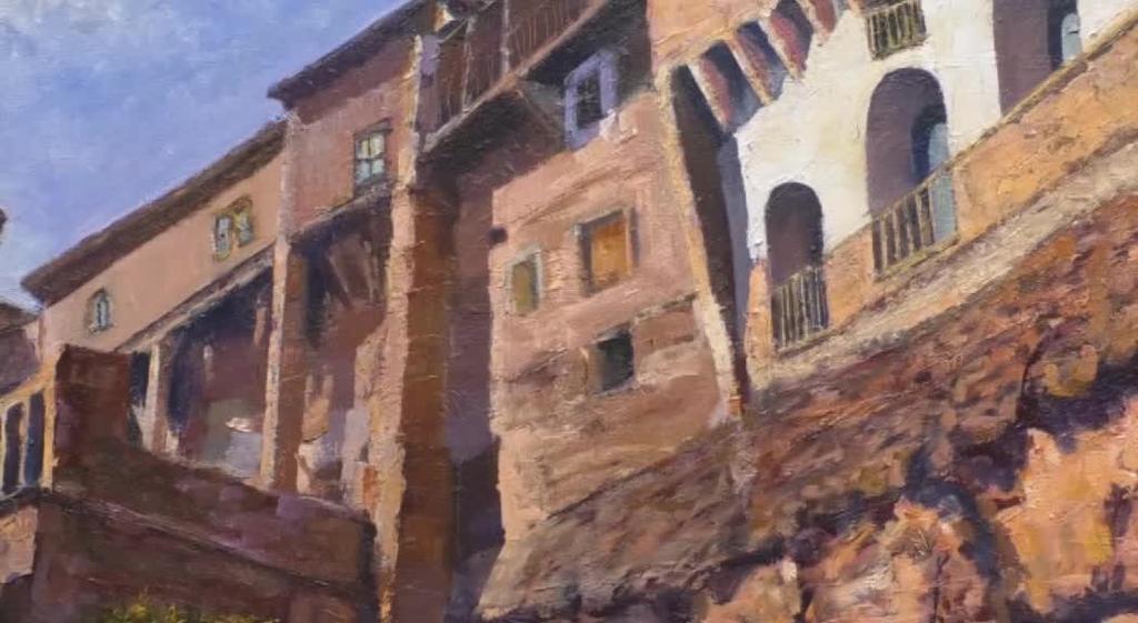 Manolo Fernandez margolariaren margolanak Altamirako Altarte elkartean ikusgai