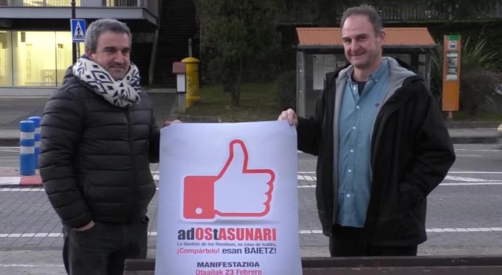 GuraSOS Elkarteak manifestazioa egingo du otsailaren 23an Donostian, erraustegiaren aurka