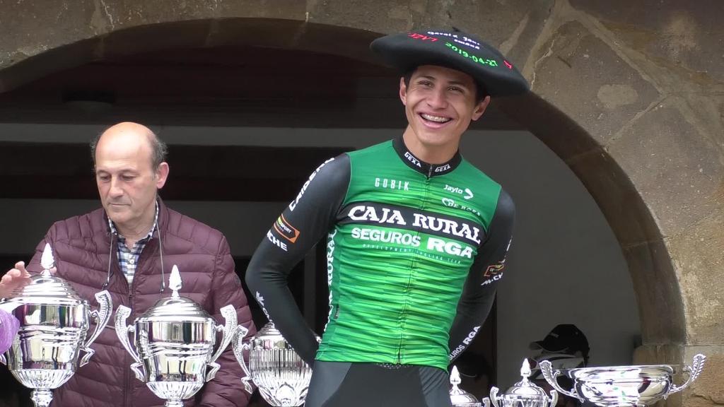 Juan Fernando Calle  garaile Lazkaoko Txirrindulari proban