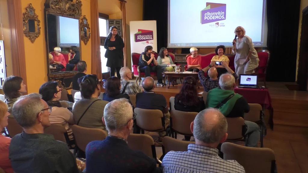 Elkarrekin Podemos-Ordizia Orain koalizioak hauteskundeetako hautagai zerrenda aurkeztu du