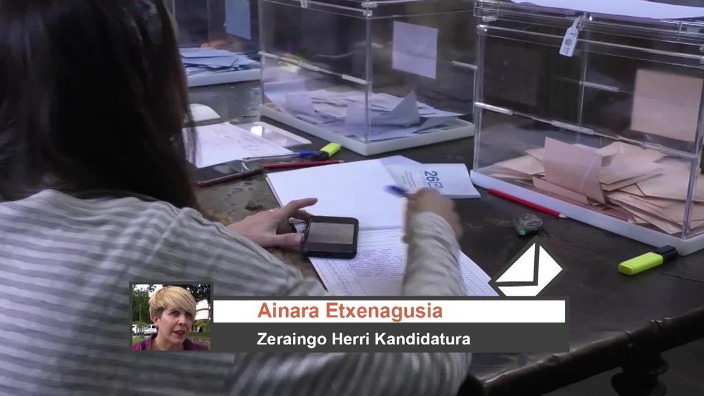 Zeraingo Herri Kandidaturako Ainara Etxenagusiaren iritzia Udal Hauteskundeen emaitzen inguruan