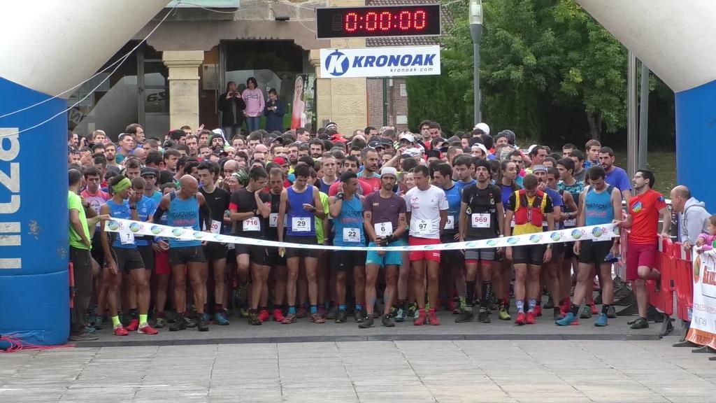 Aritz Egea eta Andrea Garayk irabazi dute Idiazabalgo Axari Trail mendi lasterketa