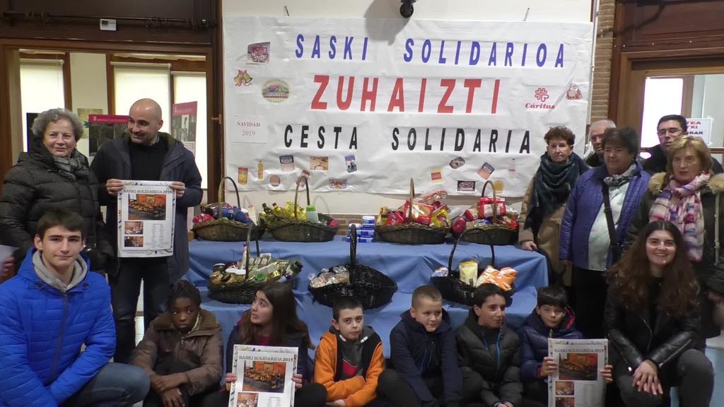 Zortzigarren urtez abiarazi dute saski solidarioa Ordizian