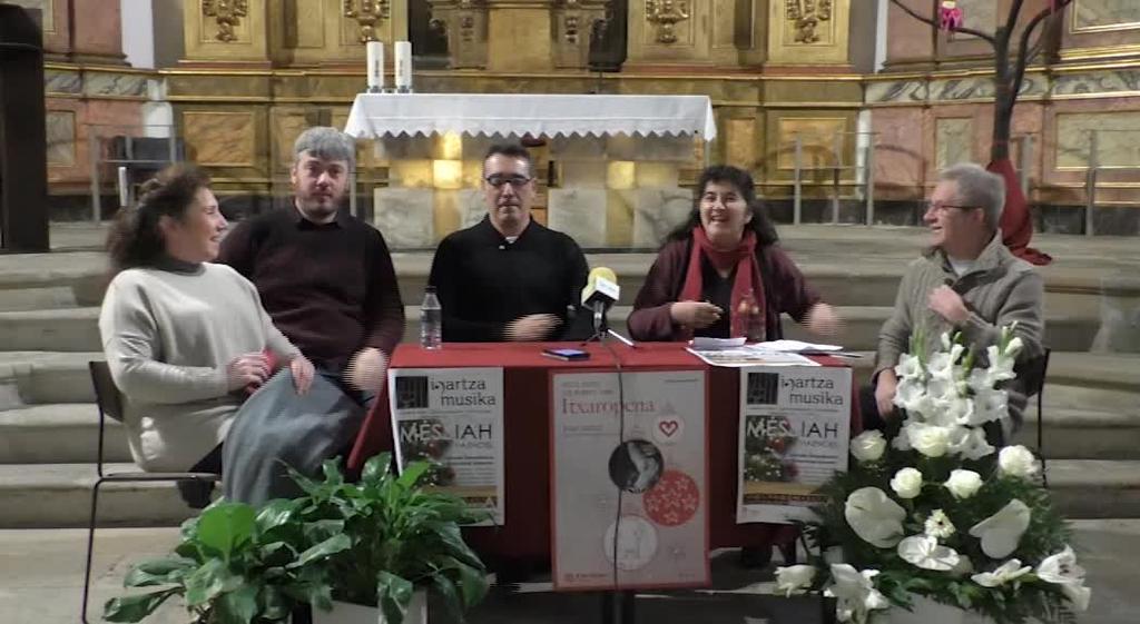 Loinatz Abesbatzak Caritasen aldeko kontzertu solidarioa eskainiko du Haendelen Messiah interpretatuz