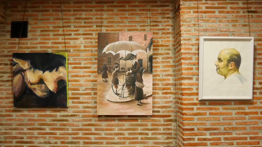 Artista desberdinek egindako lanak Altamirako Altarte elkartean ikusgai
