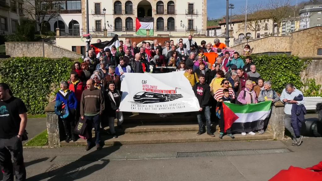 Jerusalemgo Tren Arinaren proiektutik ateratzeko eskatu diote CAFi agerraldi batean
