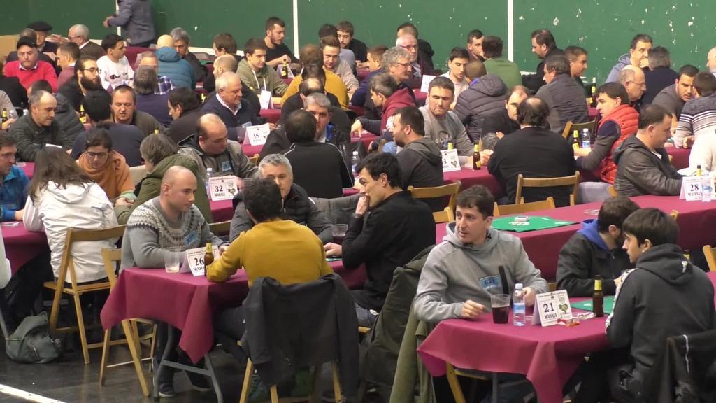 118 bikote aritu ziren Gipuzkoako Mus Txapelketako  finalean