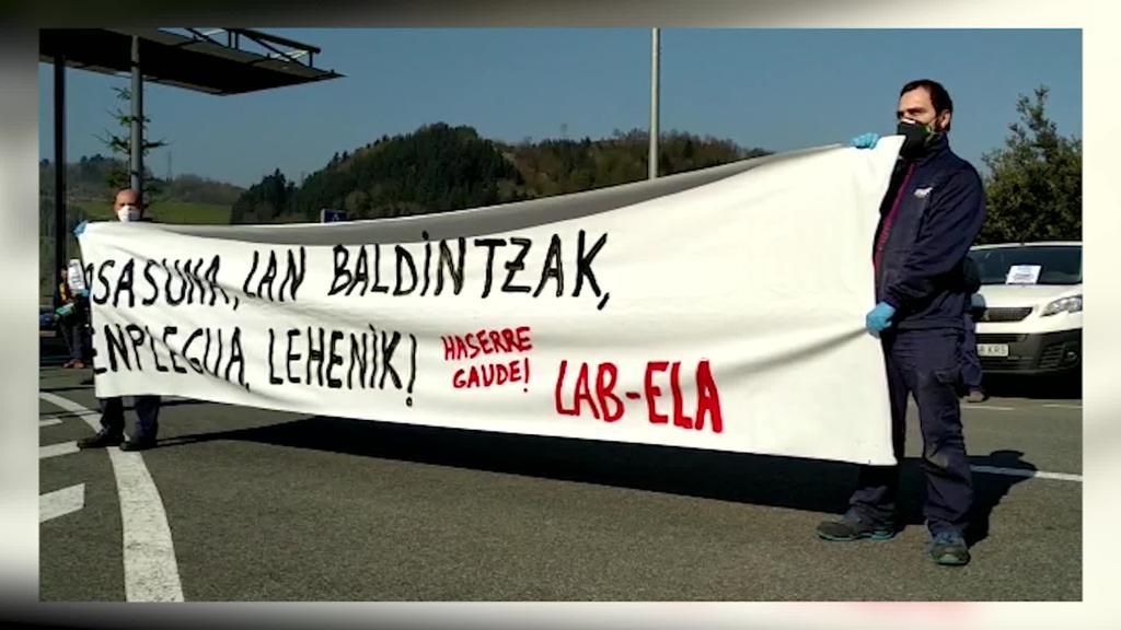 Indar-eko langileen protesta langileen osasuna lehenestea eskatuz