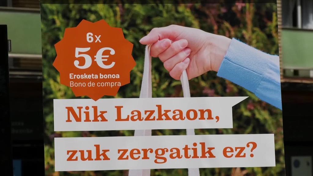 Agortu dira Lazkaoko ekonomia suspertzeko  'Nik Lazkaon, zuk zergatik ez?' kanpainako 3.000 bonuak