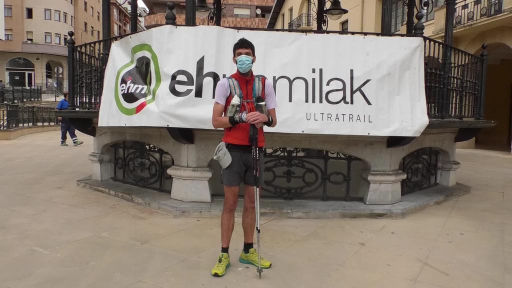 Ehunmilak ultratrailari keinu eginez David Cid lazkaotarrak 168 kilometroak egin zituen asteburuan