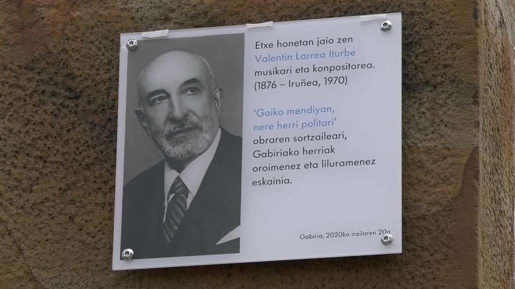Valentín Larrea musikagile gabiriarraren lanekin kontzertu berezia eskaini da bere jaioterrian