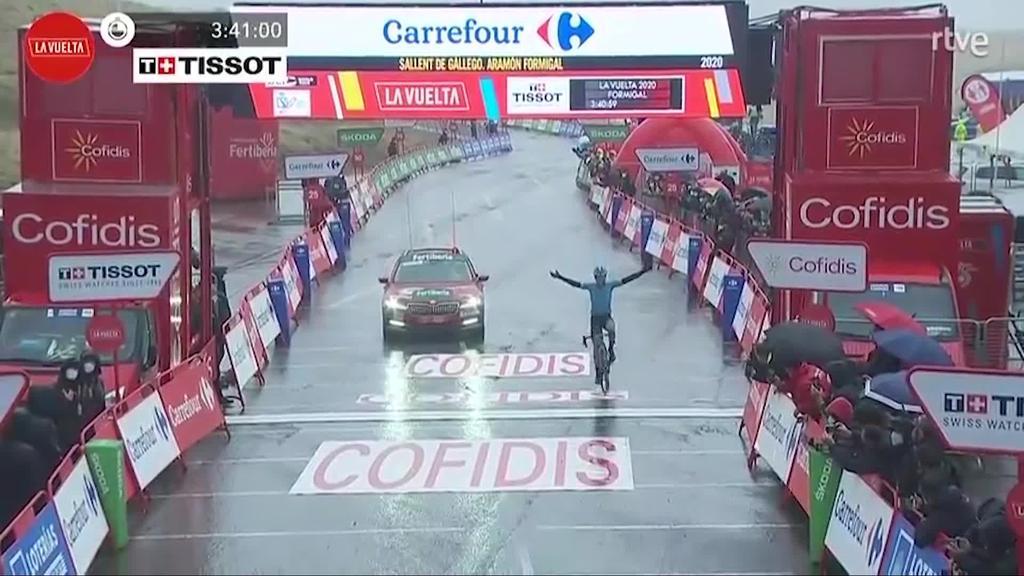 Ion Izagirre txirrindulari ormaiztegiarrak espainiako itzuliko 6. etapan garaipena lortu zuen