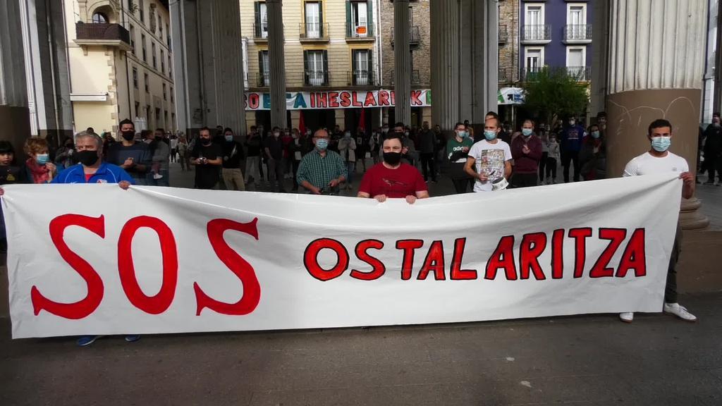 Ordiziako ostalarien protesta zaratatsua
