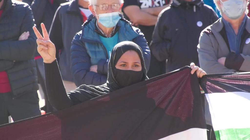 Mendebaldeko Sahara aske bat aldarrikatu dute  elkarretaratze batean