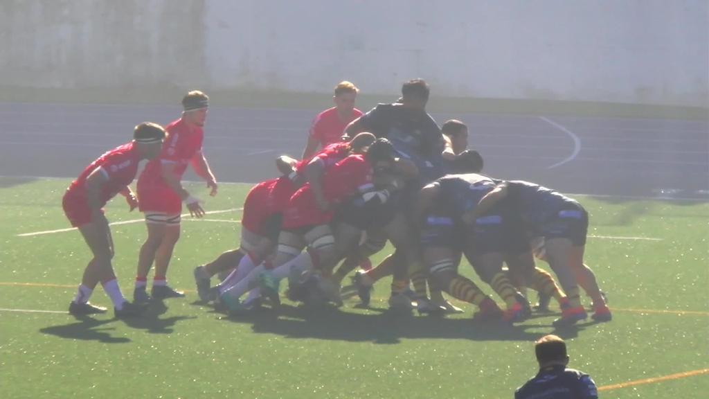AMPO Ordizia Rugby taldeak U.E: Santboiana talde kataluniarra mendean hartu zuen 41-25