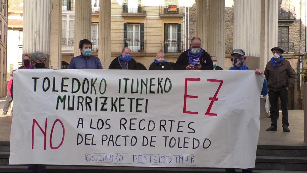 """Goierriko Pentsiodunek """"Toledoko Itunari ez!"""" lelopean  larunbateko elkarretaratzean parte hartzeko deia luzatu dute"""