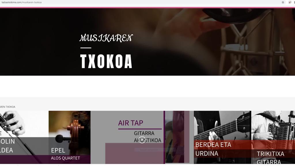 """Lazkao Txiki Musika Eskolak bere webgunean atal berri bat sortu du """"Musikaren txokoa"""" ikasleen bideoak elkarbanatzeko"""