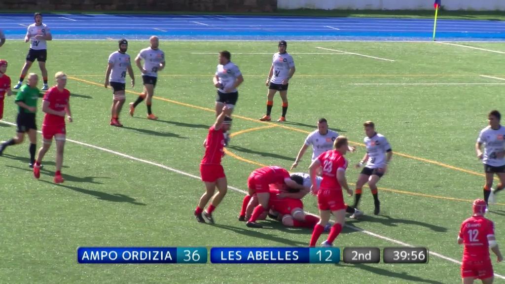 Ampo Ordizia Rugby vs Les Abelles - Partida osoa