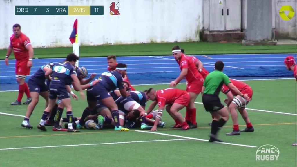 AMPO Ordizia Rugby taldeak VRAC Quesos Entrepinares garaitu zuen etxean 21 eta 15