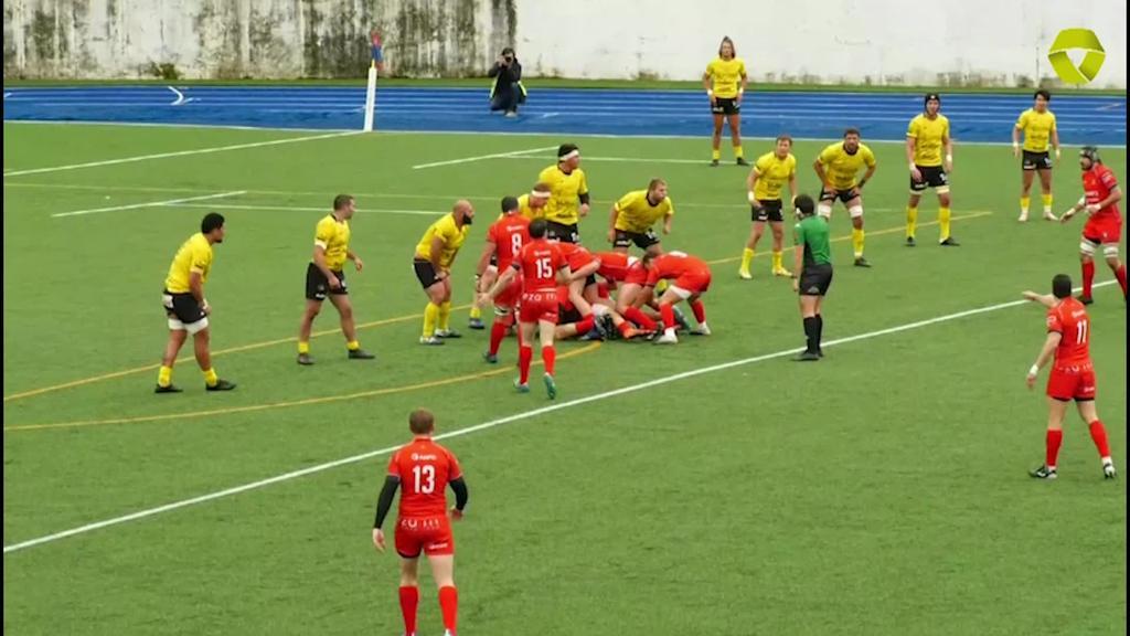 AMPO Ordizia Rugby taldeak Universidad de Burgos - Bajo Cero taldea garaitu zuen 24-20
