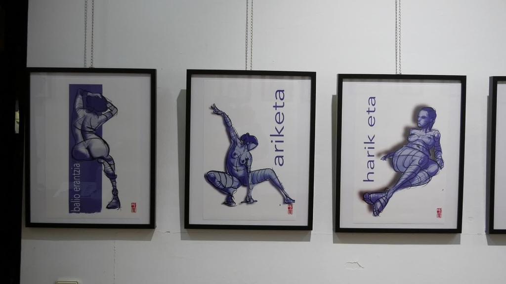 """Josu Marotoren eta Ekaitz Goikoetxearen """"Balio erantzia"""" ilustrazio erakusketa Idiazabalen hilaren 30ra arte"""