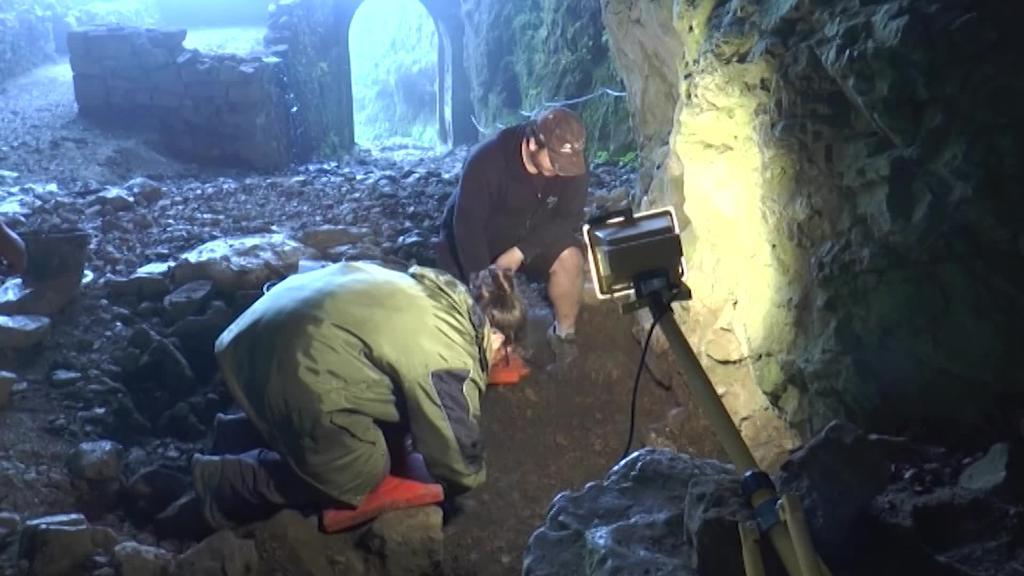 San Adriango indusketa arkeologikora bisita gidatua larunbatean