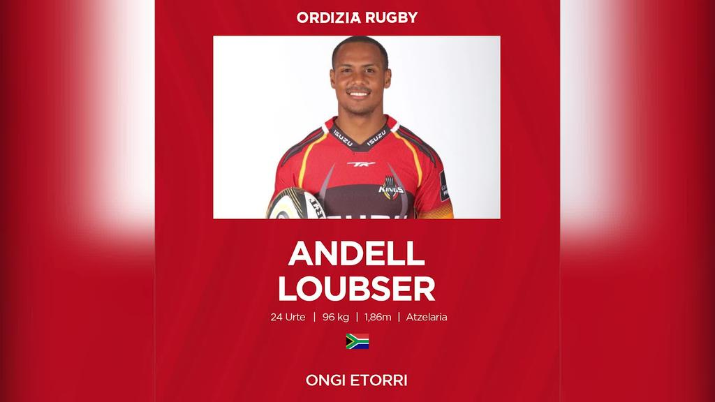 Andell Anwer Loubser hegoafrikarra fitxatu du AMPO Ordizia Rugby taldeak