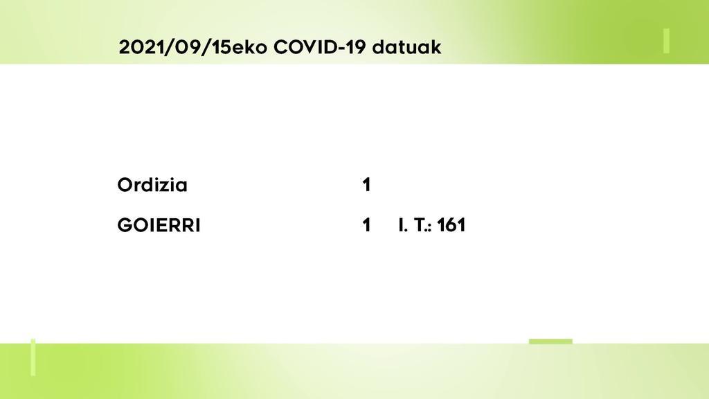 COVID-19 kasu bakarra antzeman dute asteazkenean Goierrin