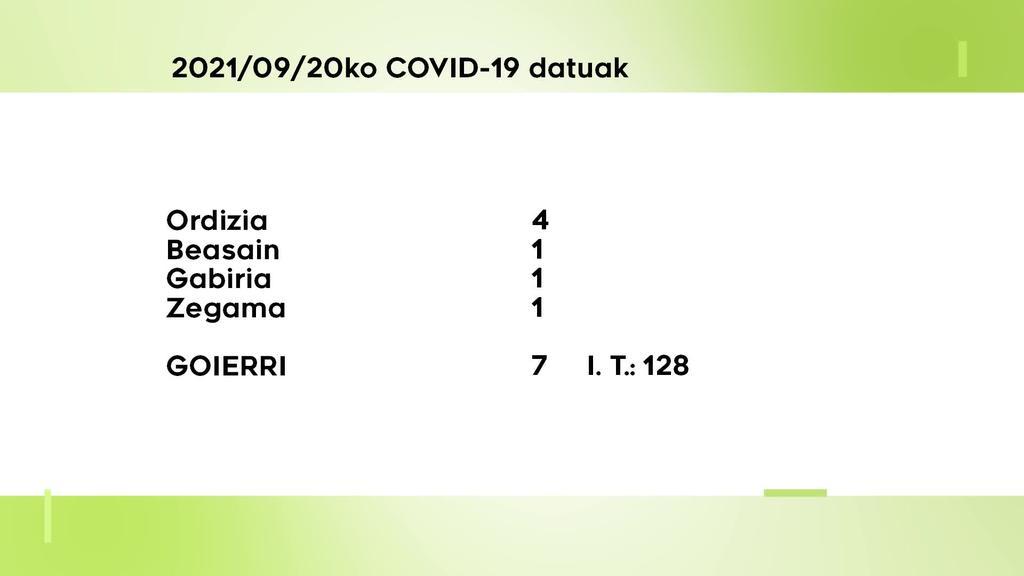 7 COVID-19 kasu aurkitu dituzte astelehenean Goierrin