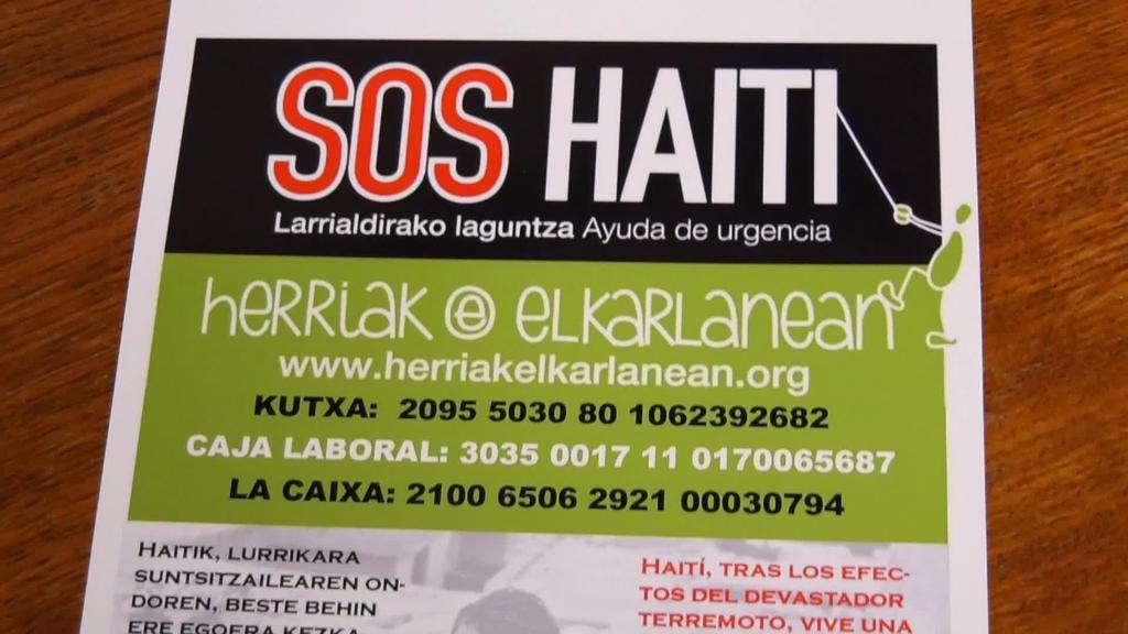 Haitira laguntza bideratzeko kanpaina abiatu du Herriak Elkarlaneanek
