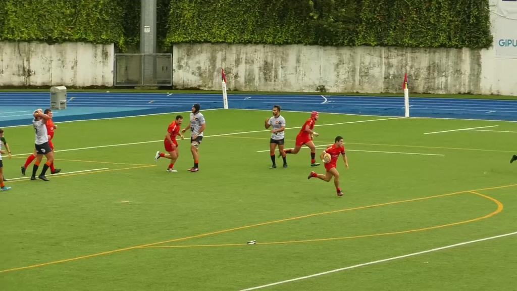 34 eta 12 garaitu zuen AMPO Ordizia Rugby taldeak Les Abelles talde balentziarra