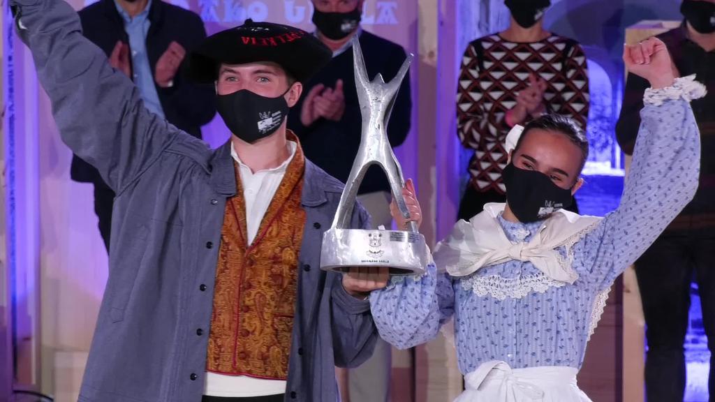 Maren Galvez eta Gorka Granadok irabazi dute 45. Euskal  Herriko Dantza Txapelketa