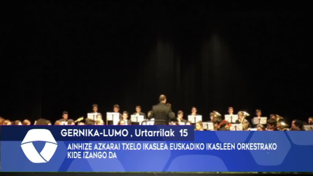 Ainhize Azkarai Euskadiko Ikasleen Orkestrako kide izango da