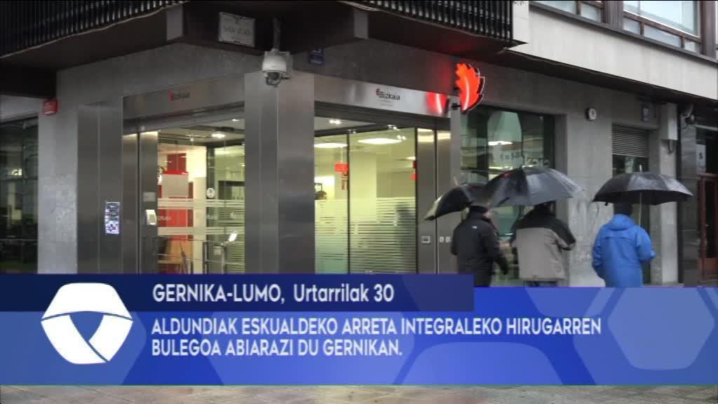 ALDUNDIAK ESKUALDEKO ARRETA INTEGRALEKO HIRUGARREN BULEGOA ABIARAZI DU GERNIKAN
