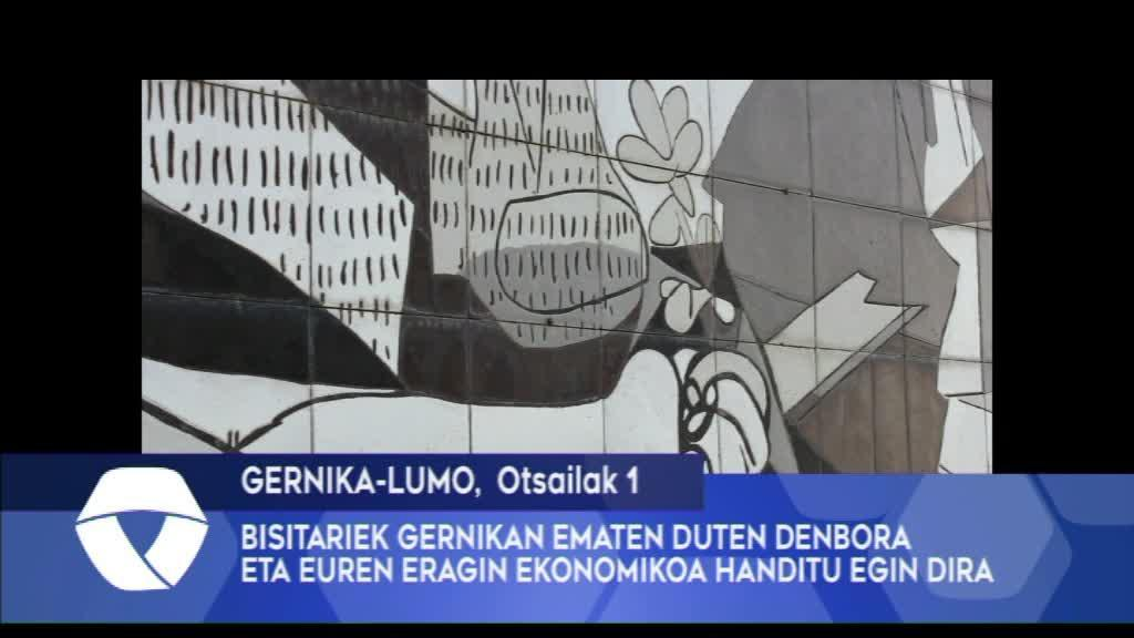 BISITARIEK GERNIKAN EMATEN DUTEN DENBORA ETA EUREN ERAGIN EKONOMIKOA HANDITU EGIN DIRA