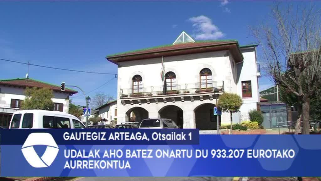 Gautegiz Arteagako Udalak aho batez onartu du 933.207 eurotako aurrekontua