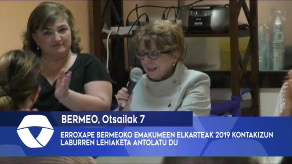 ERROXAPE BERMEOKO EMAKUMEEN ELKARTEAK 2019 KONTAKIZUN LABURREN LEHIAKETA ANTOLATU DU