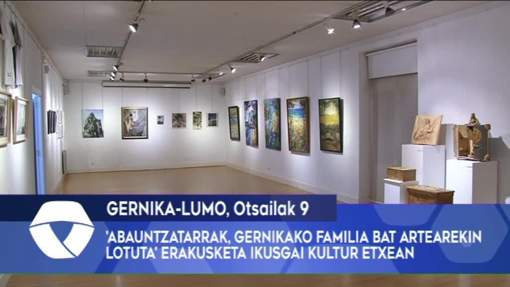 'Abauntzatarrak, Gernikako Familia Bat Artearekin Lotuta' erakusketa ikusgai Gernika-Lumoko Kultur Etxean