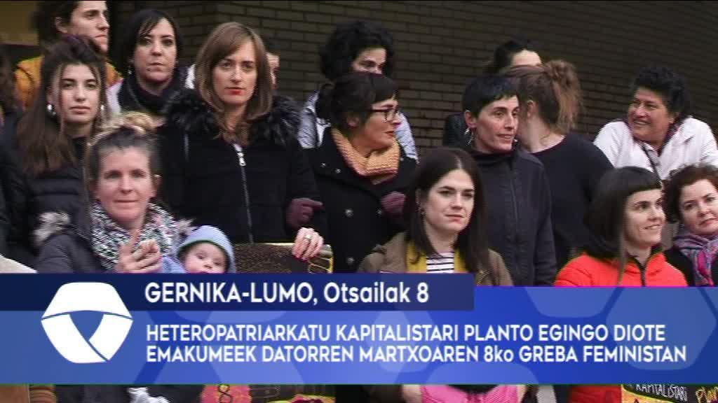 Heteropatriarkatu kapitalistari planto egingo diote emakumeek datorren martxoaren 8ko Greba Feministan