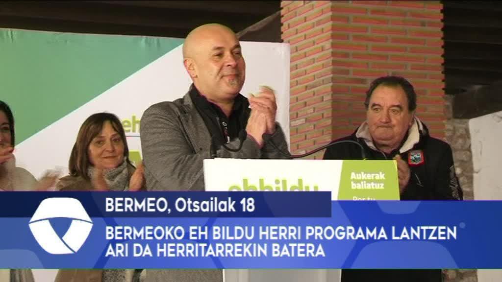 Bermeoko EH Bildu herri programa lantzen ari da herritarrekin batera