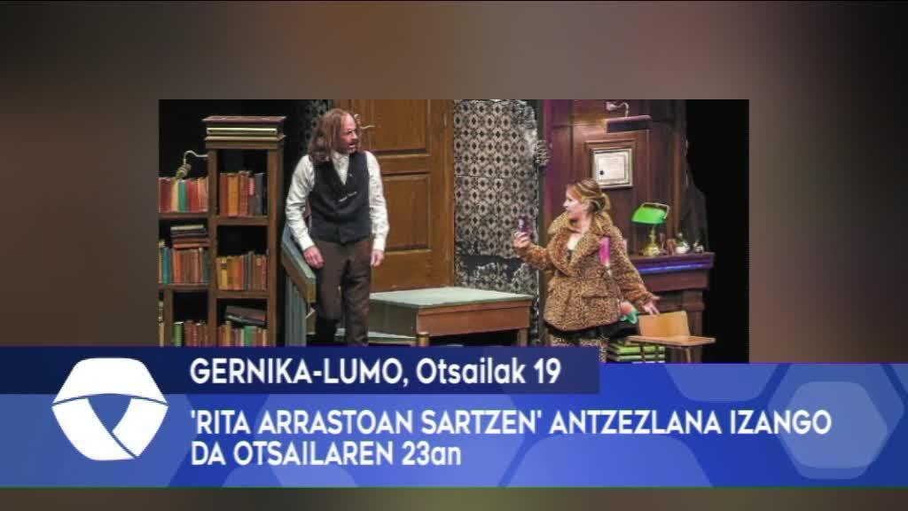 Rita Arrastoan Sartzen antzezlana izango da otsailaren 23an Gernika-Lumon