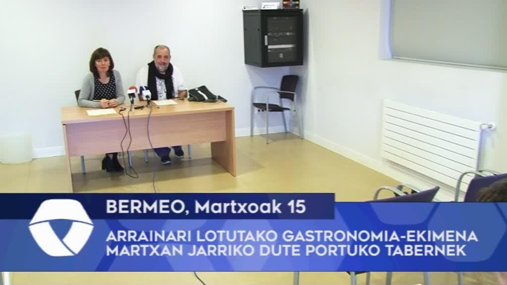 Arrainari lotutako gastronomia-ekimena martxan jarriko dute Bermeoko portuko tabernek