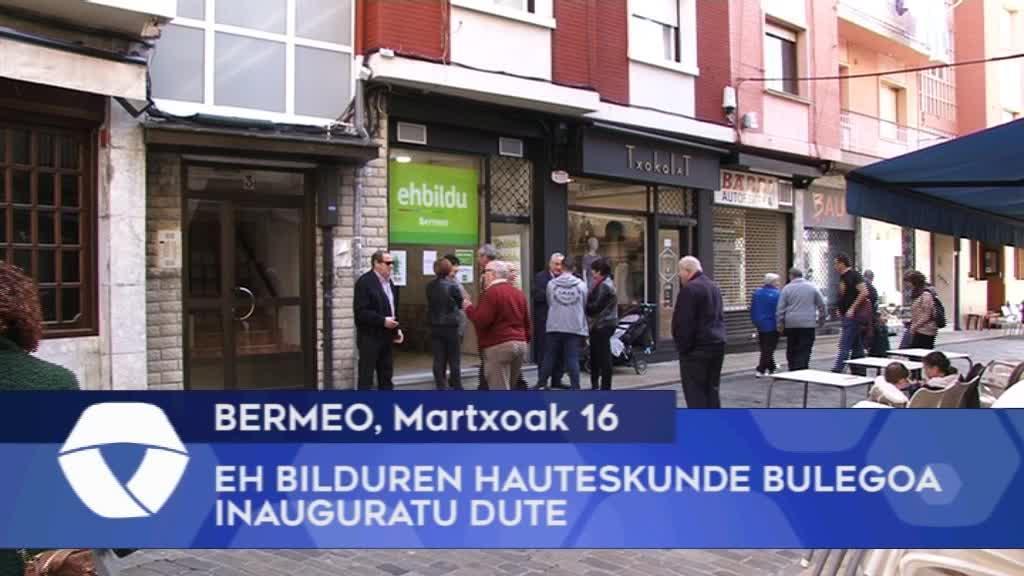 Bermeoko EH Bilduren hauteskunde bulegoa inauguratu dute