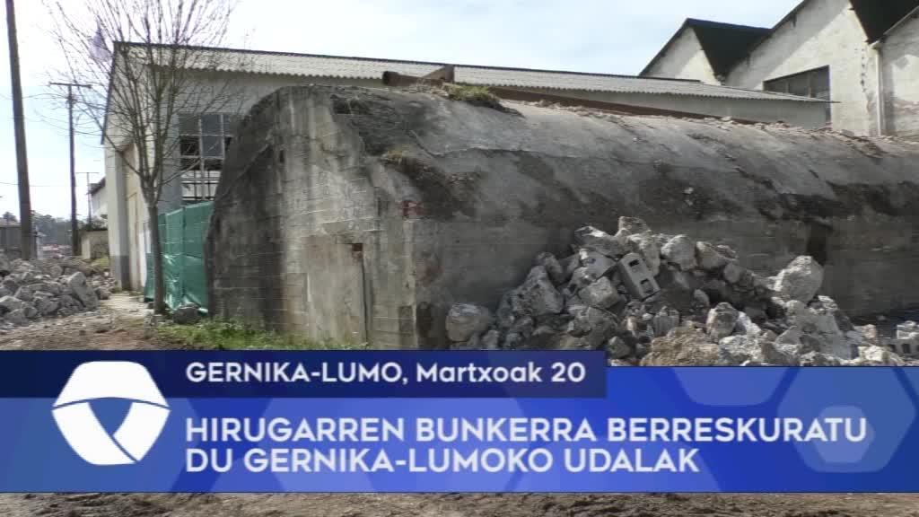 Hirugarren bunkerra berreskuratuko du Gernika-Lumoko Udalak