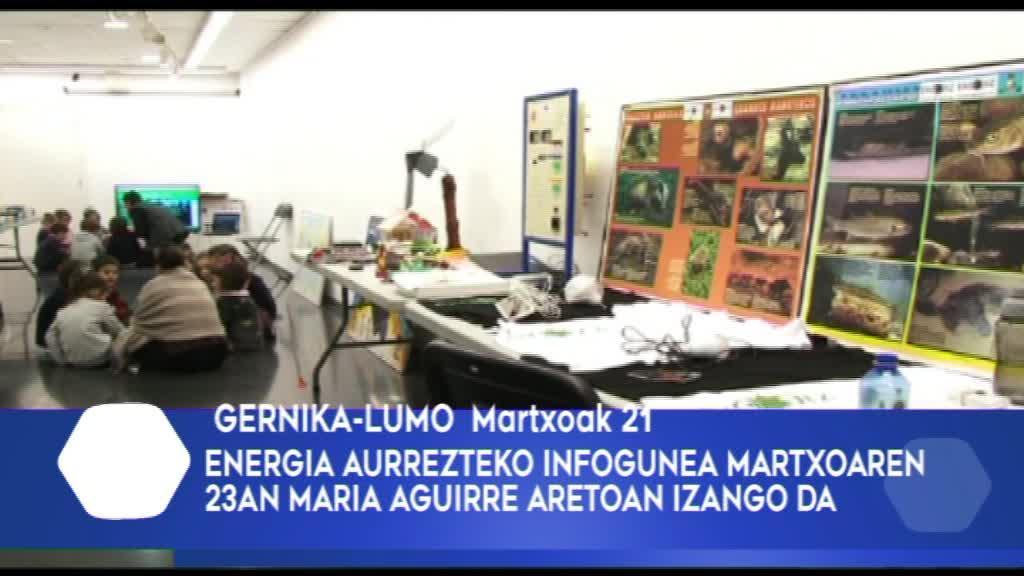 ENERGIA AURREZTEKO INFOGUNEA IZANGO DA MARTXOAREN 23AN