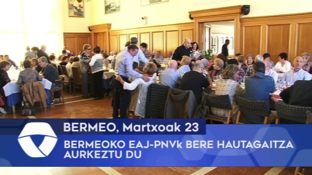 Bermeoko EAJ-PNVk bere hautagaitza aurkeztu du