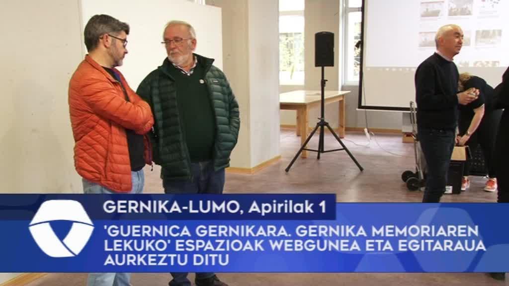 'Guernica Gernikara. Gernika Memoriaren Lekuko' espazioak webgunea eta egitaraua aurkeztu ditu
