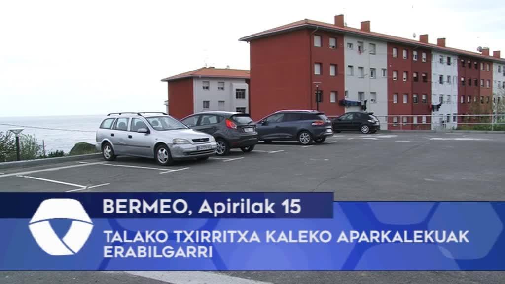 Talako Txirritxa kaleko aparkalekuak erabilgarri