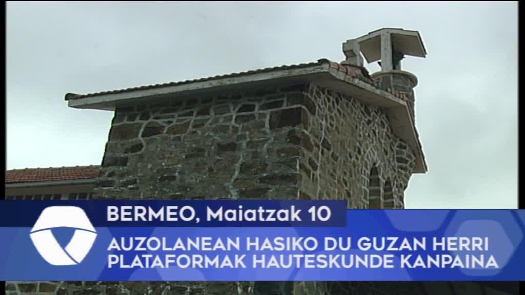 Auzolanean hasiko du Guzan herri plataformak hauteskunde kanpaina