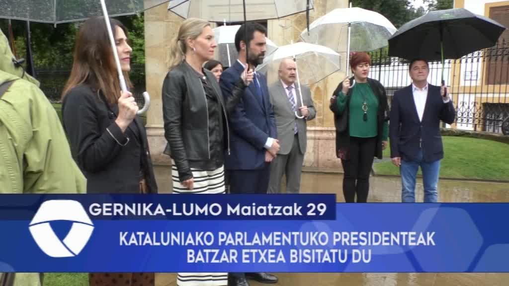 KATALUNIAKO PARLAMENTUKO PRESIDENTEAK BATZAR ETXEA BISITATU DU